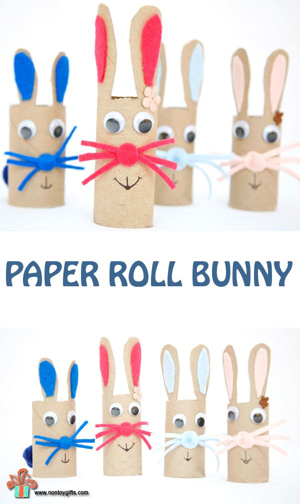 Paper Roll Bunny Craft For Kids Easter Crafts For Kids Bunny