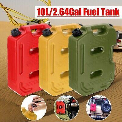 2.6 Gallon 10L Fuel Pack Portable PE Gasoline Gas Container Oil Can Jeep ATV UTV