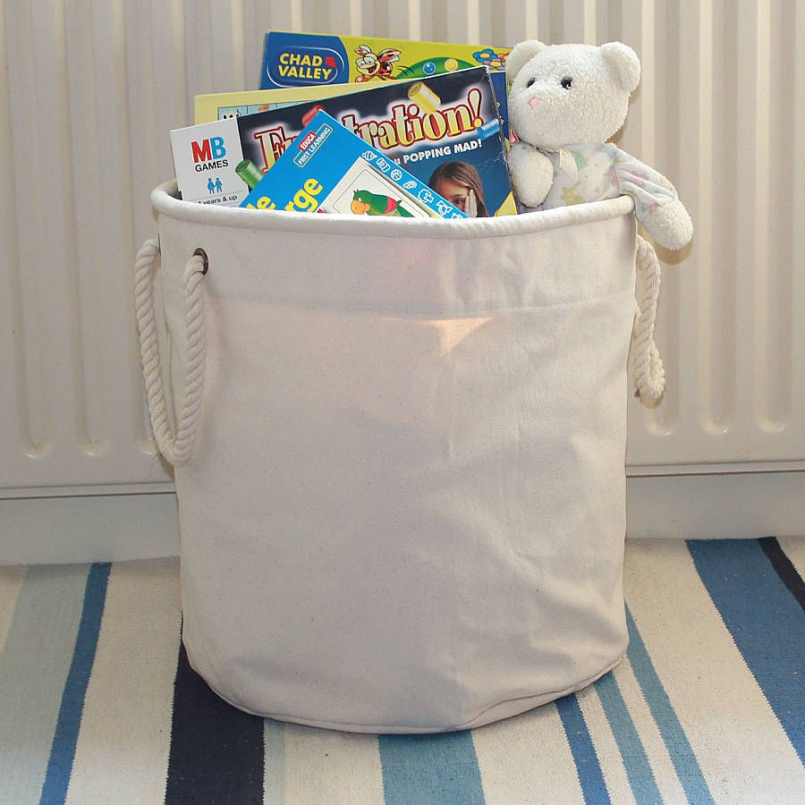 Merveilleux Canvas Toy Storage Bucket By The Original Canvas Bucket Bag Company |  Notonthehighstreet.com