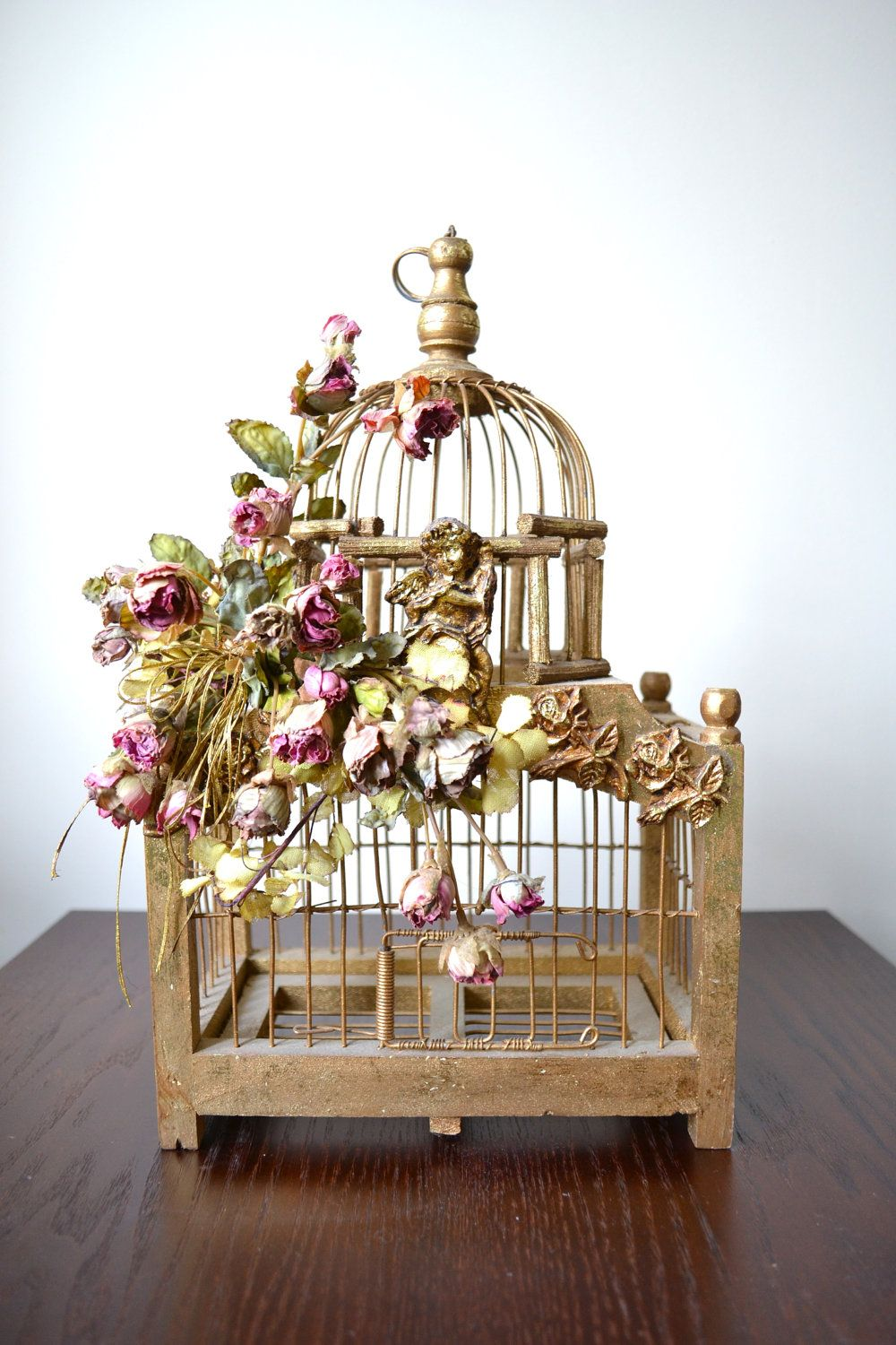 antique bird cage please plant a flower and not a bird description from - Decorative Bird Cages