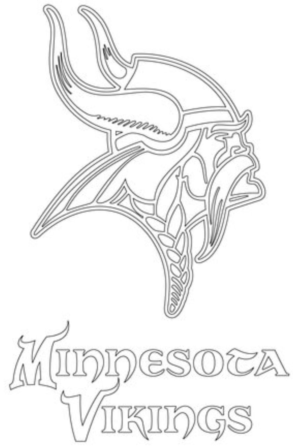 Viking Minnesota Vikings Logo Viking Logo Sports Coloring Pages