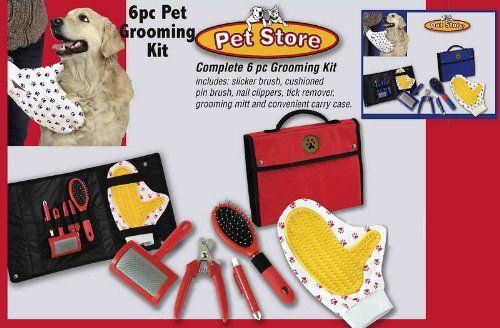 Pet Store Pet Grooming 6 Piece Kit (Red) « Pet Lovers Ads