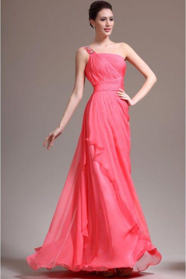 Red One Shoulder Evening Dress | bridesmaid dresses | Pinterest ...