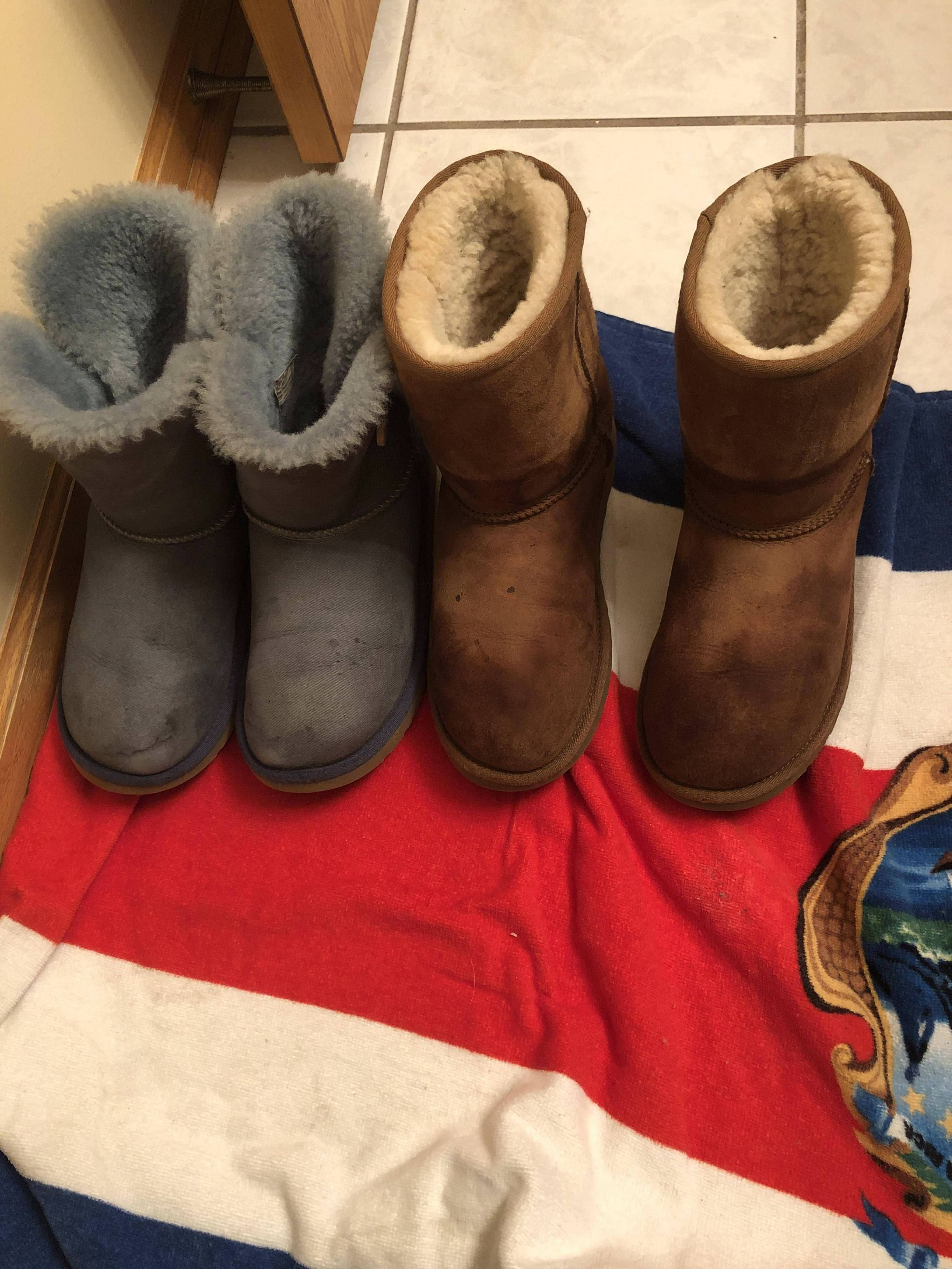 I cleaned my UGGS with the brand cleaner  amp  followed directions to a tee. 8f05ddb20