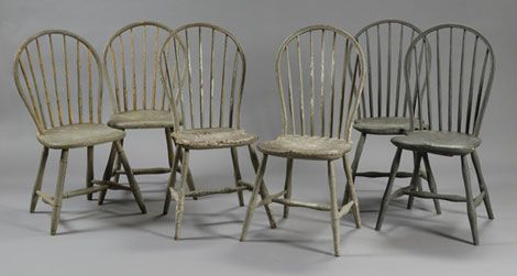 these are my kitchen chairs!  like the distressed look.
