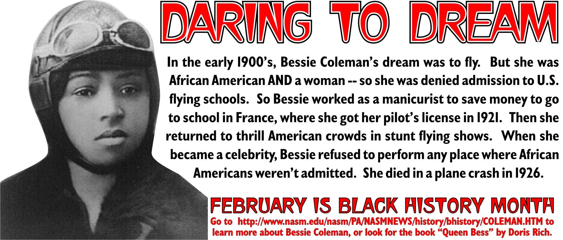 Bessie Coleman Quotes Inspirational Quotesgram By