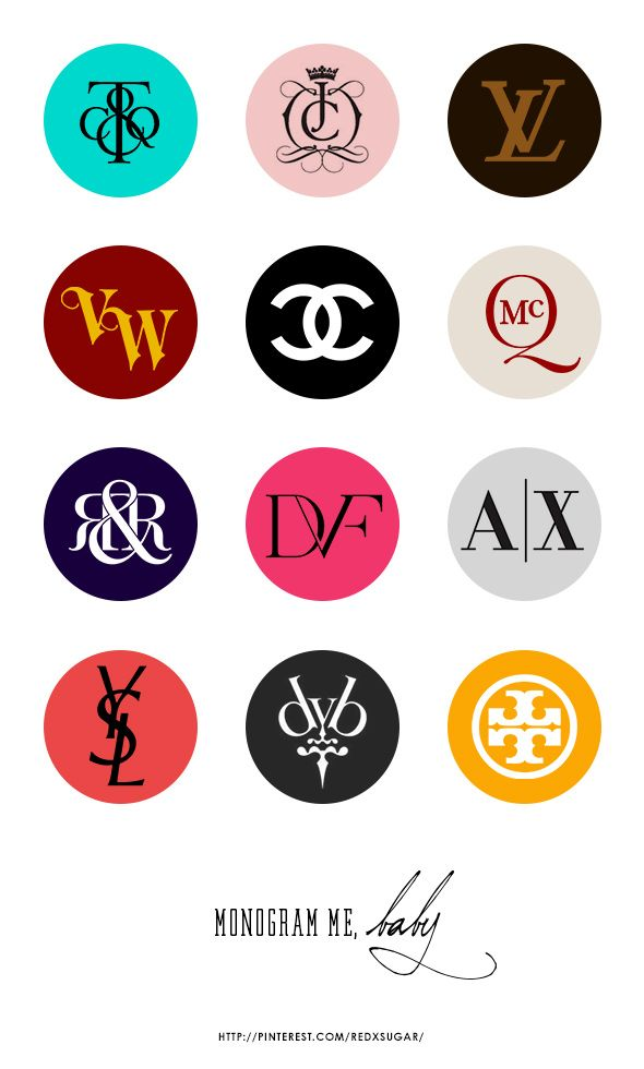 Fashion brands monogram logos part 1 design print for Top product design companies