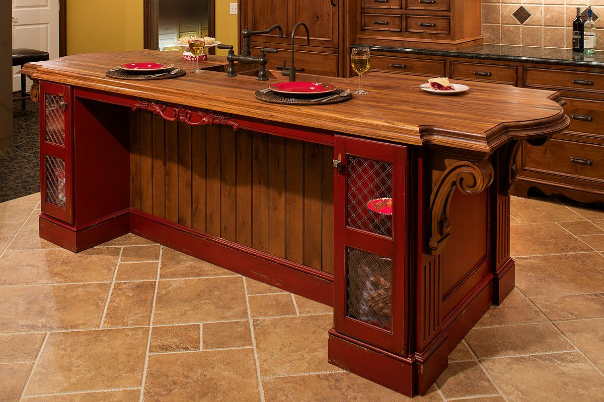 Rustic Tile Kitchen Countertops Attractive Kitchen Island Design Ideas  Countertops Tile Design