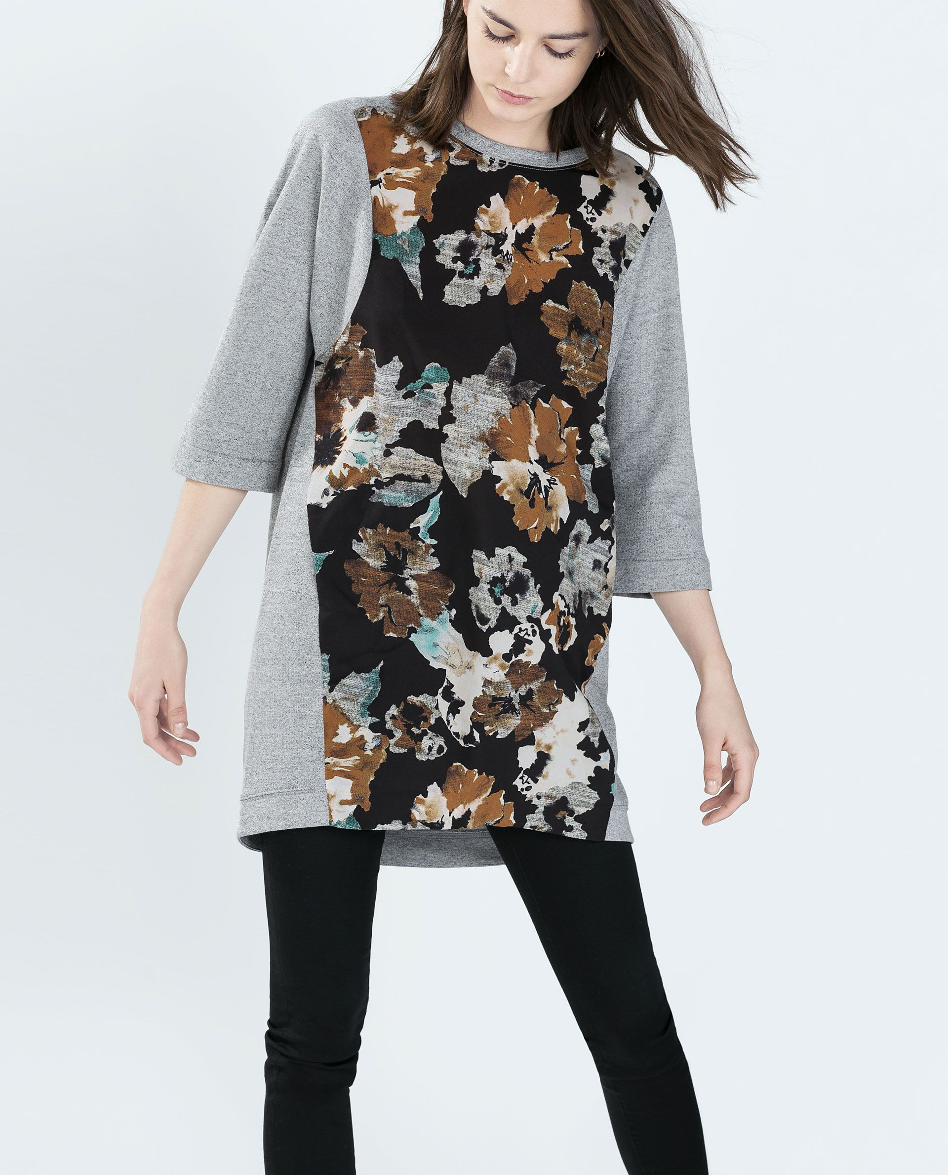 Image 3 of PRINTED VELOUR DRESS from Zara