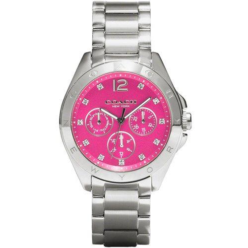 31330df2f0 Relógio feminino Coach com pulseira em aço. 14502071