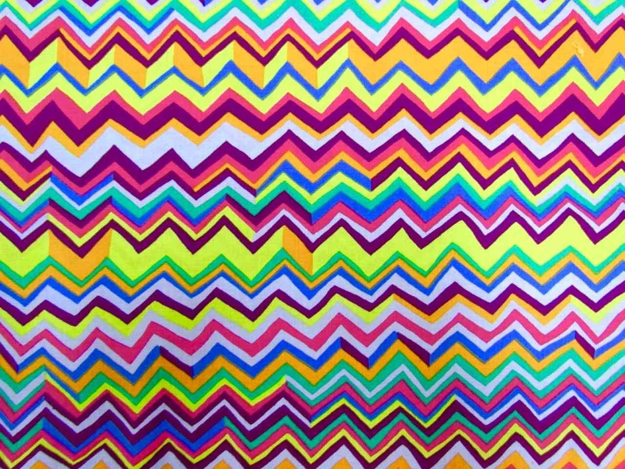 Funky Zig Zag Patchwork And Quilting Cotton Fabrics From The