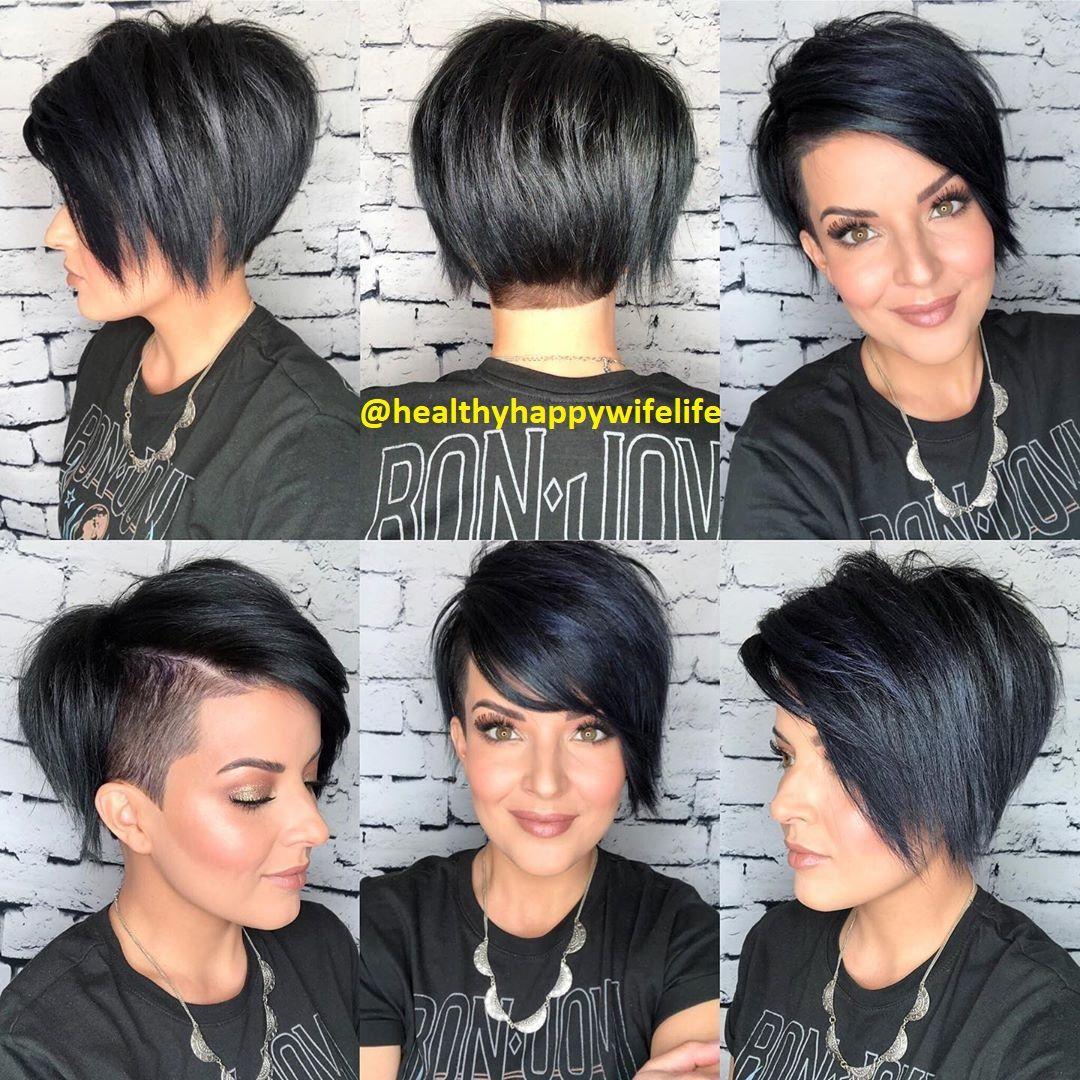 Schwarze Kurze Haare Frisuren Stil Haar Kurze Und Lange Frisuren Edgy Short Hair Short Hair Styles Short Hair Undercut