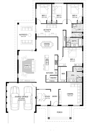 Rear Master Bedroom Floor Plans Single Story Google Search House Plans Australia Family House Plans 5 Bedroom House Plans
