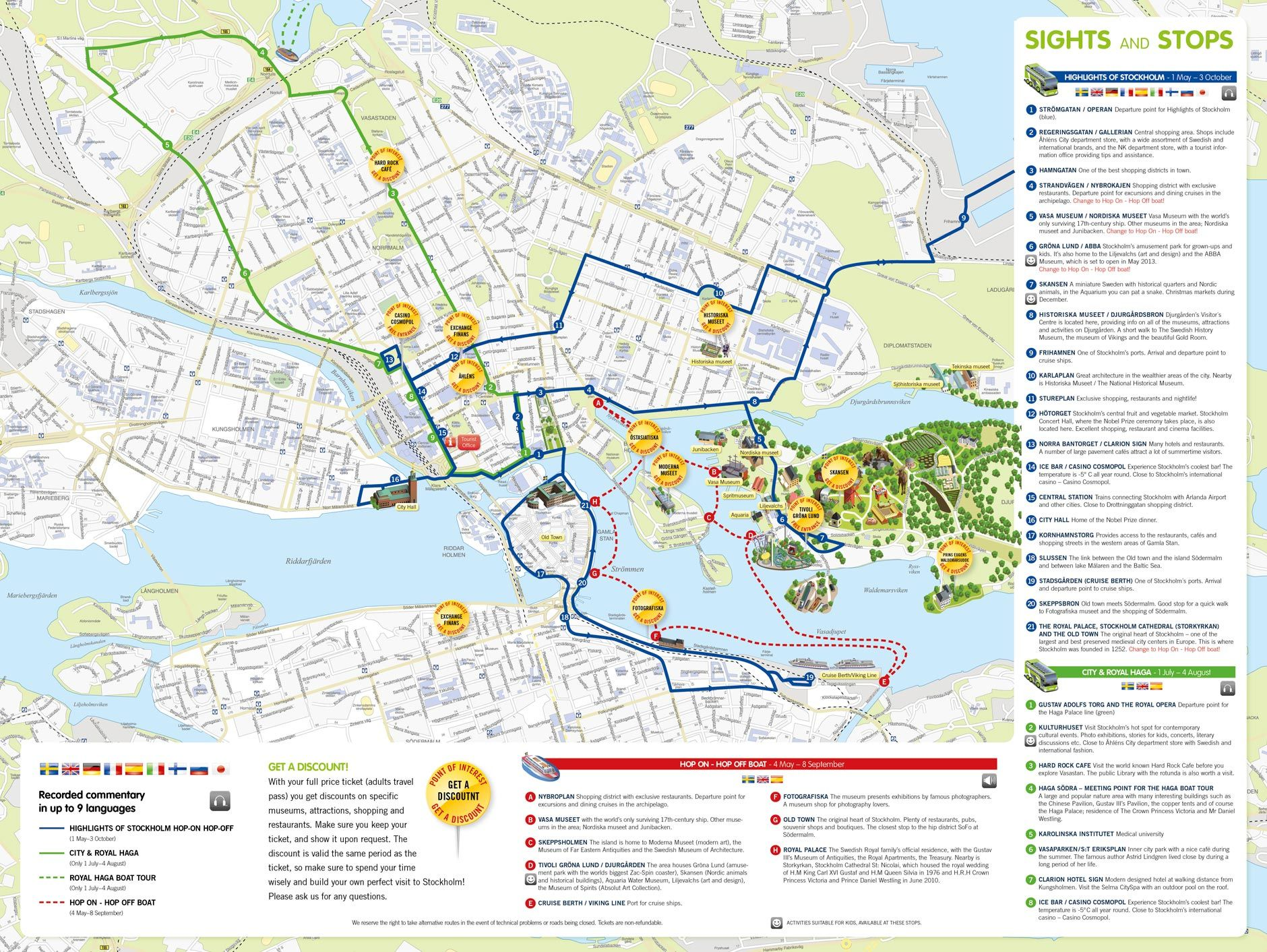 Stockholm walking map Places to see in beautiful Stockholm
