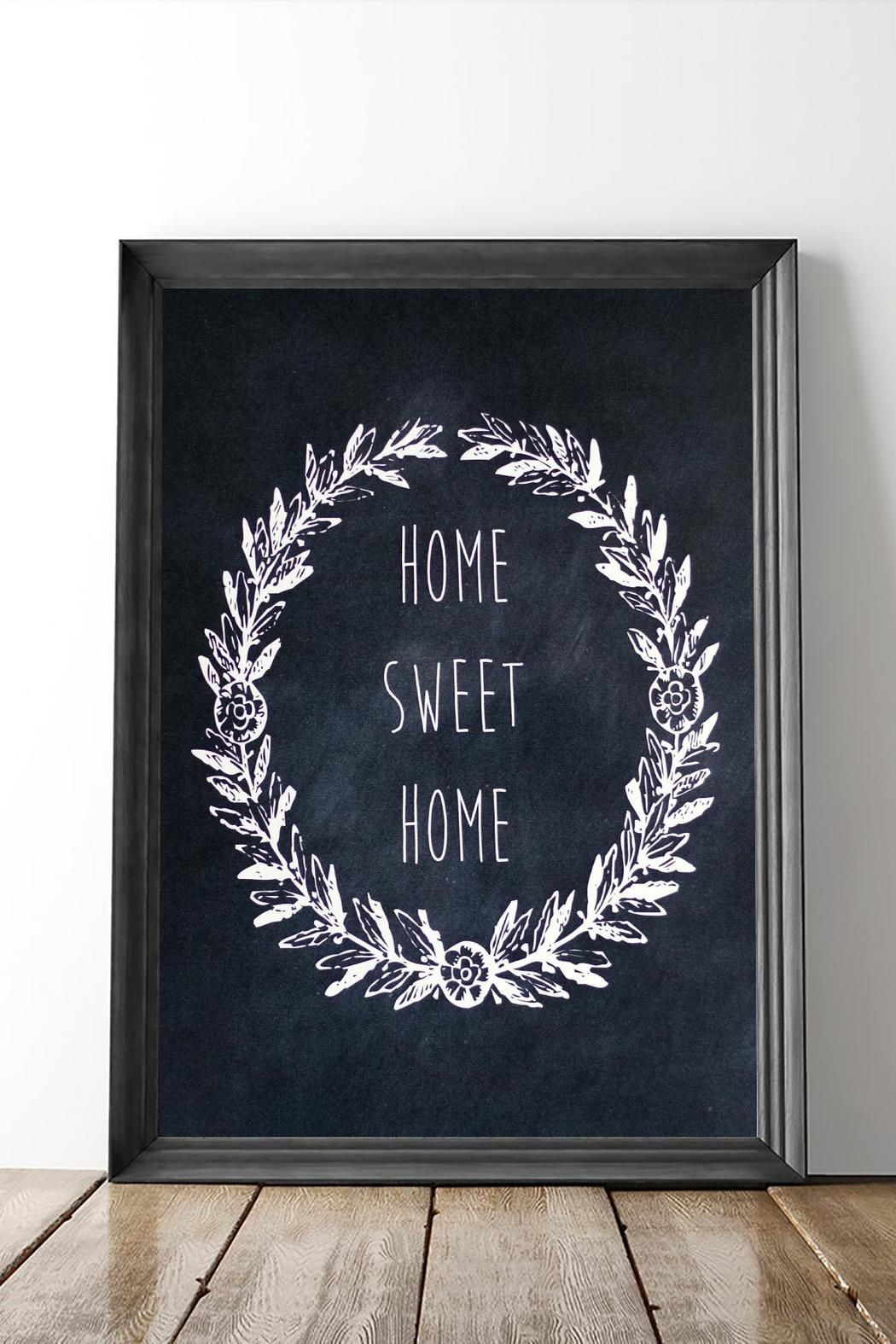 """Make your home your own with this beautiful Home-Sweet-Home Print! Print dimensions are 8x10. Print is unframed. Made by KBelt Designs. """"Home-Sweet-Home"""" Print by Dime & Regal. Home & Gifts - Home Decor - Wall Art Michigan"""