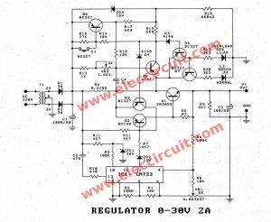 0 30v Variable Power Supply Circuit Diagram At 3a Eleccircuit