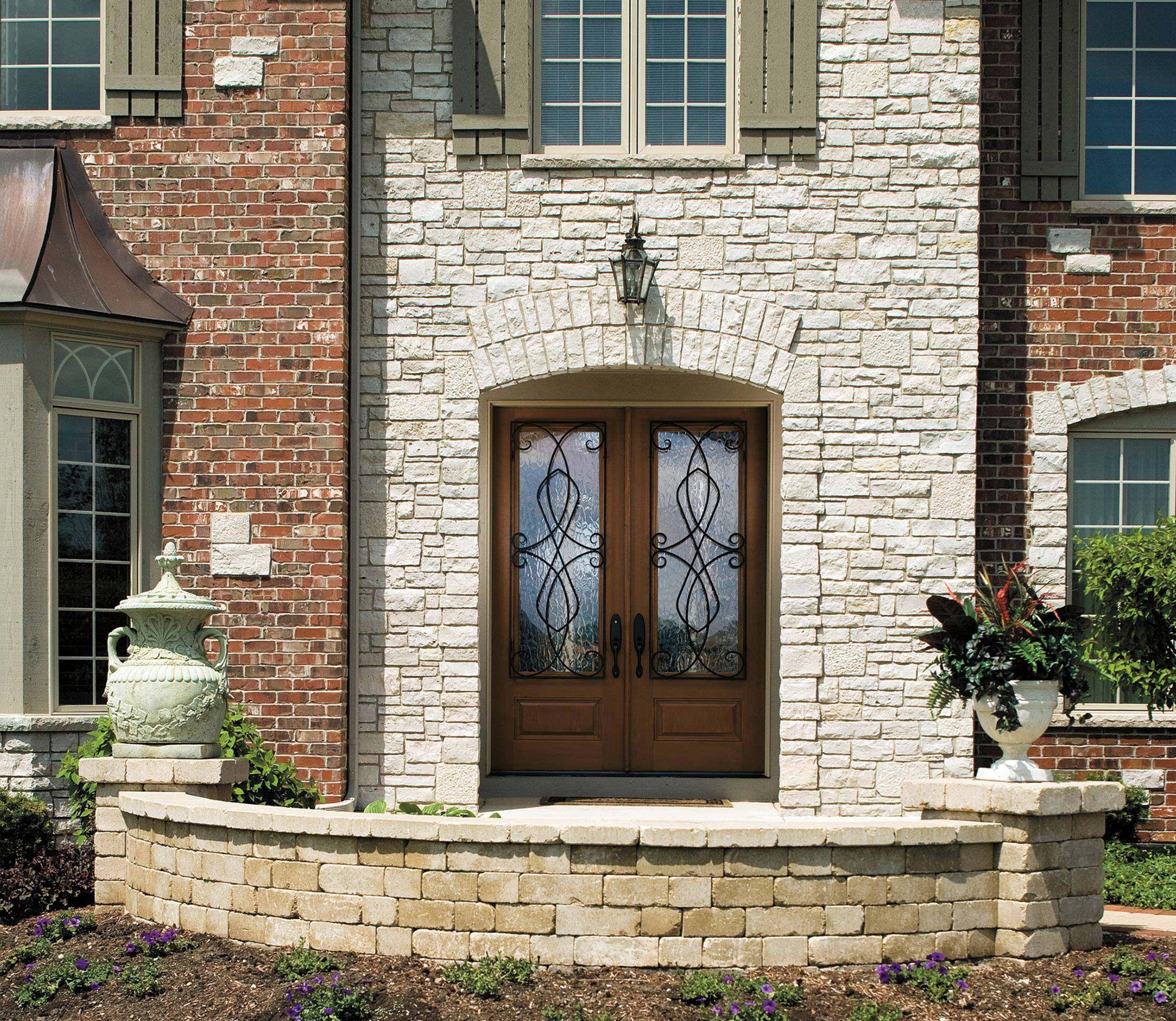 Architect Series European 34 Light Entry Door With Glass Pella
