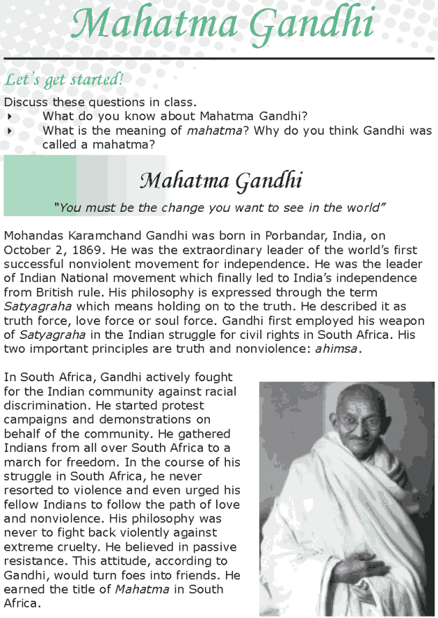 Essay on mahatma gandhi