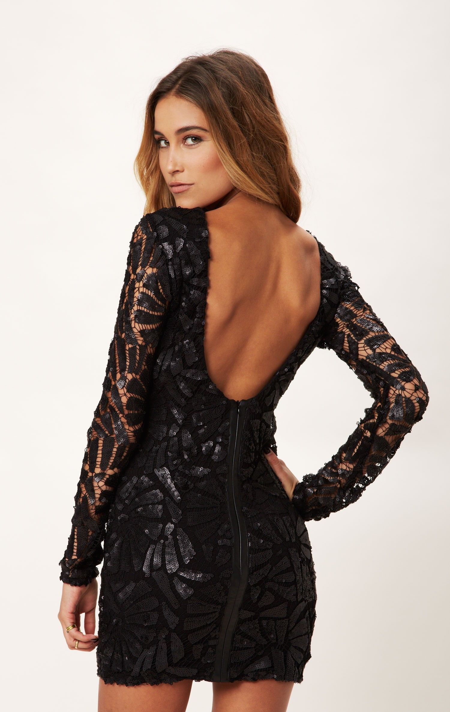 Fayina long sleeve sequin dress sequins clothes and homecoming