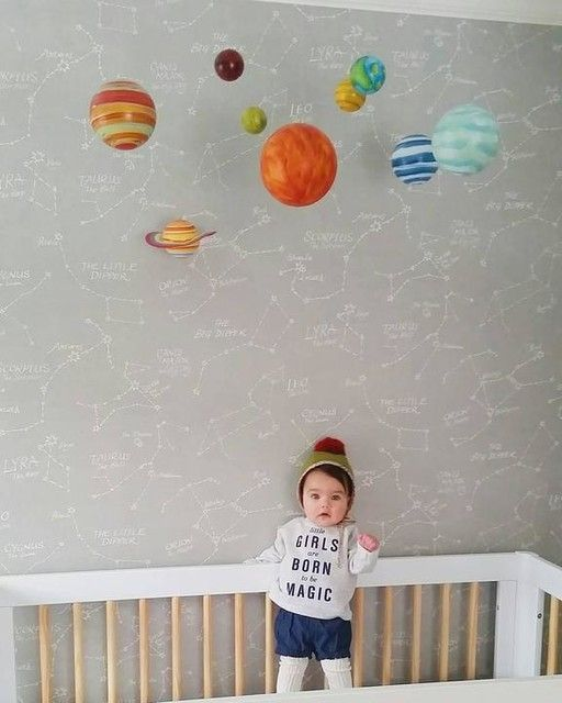 Constellation Wallpaper Nursery Wallpaper Boy Removable