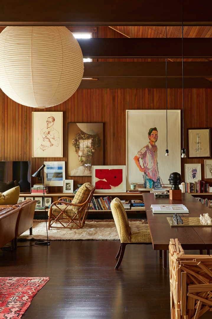 Beautiful Wood Paneled Rooms: Beautiful Mid-century Modern Inspired Living Room With