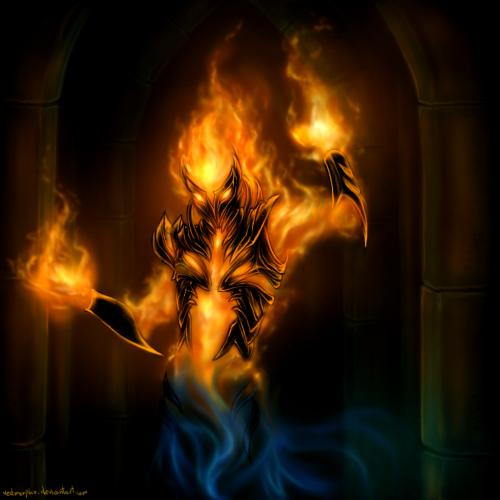 Image result for elder scrolls fire atronach art