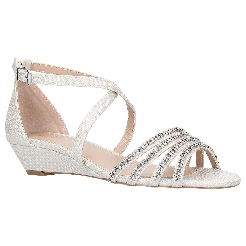 2794dcfb4833 BuyCarvela Linden Crystal Low Wedge Sandals