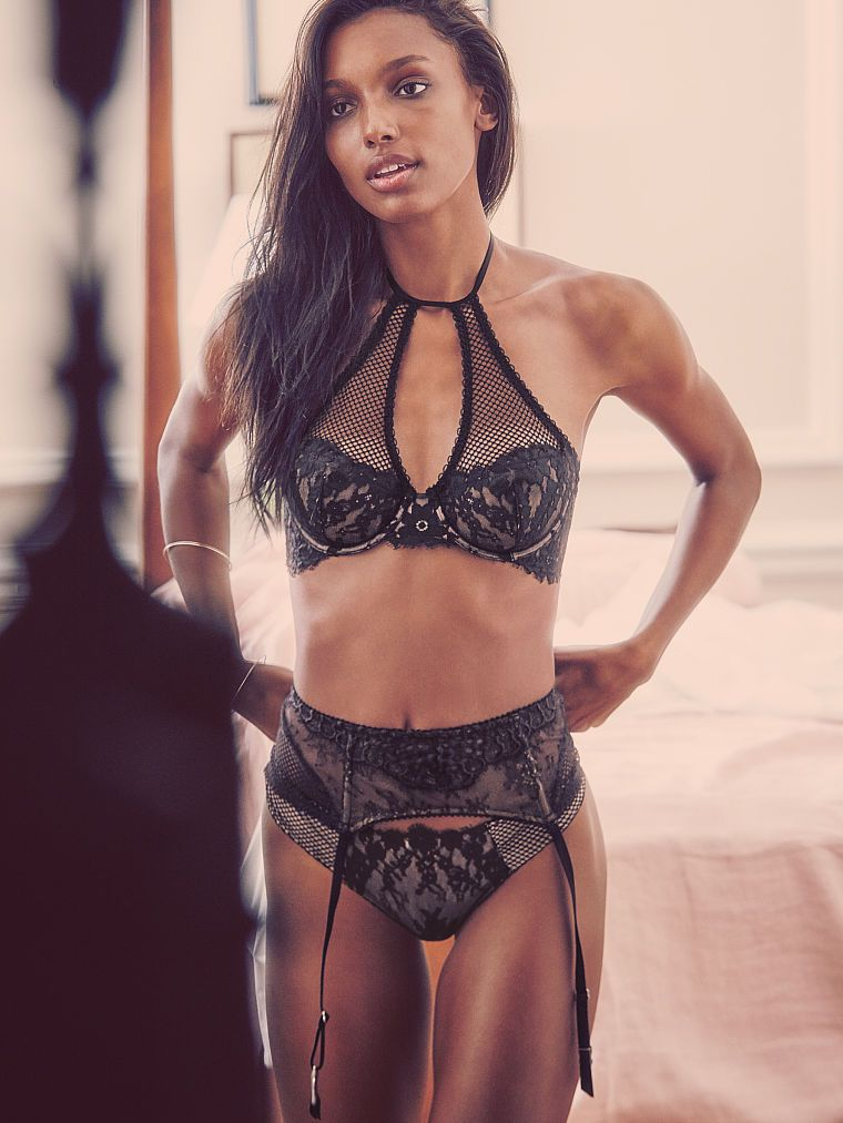 70e166cd06 Floral Lace High-neck Demi Bra - Dream Angels - Victoria s Secret Jasmine  Tookes