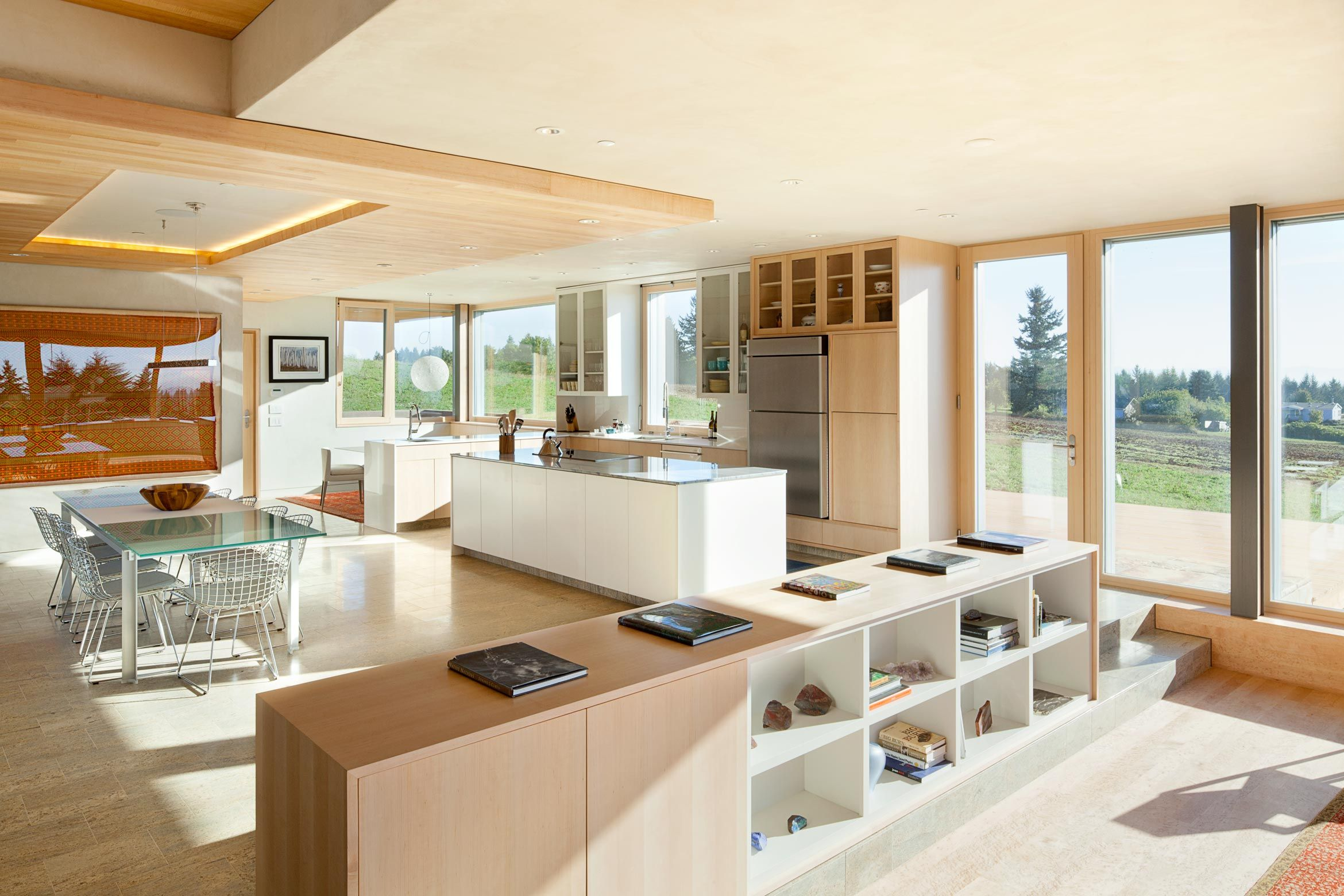 Kitchen and dining area in karuna passive house
