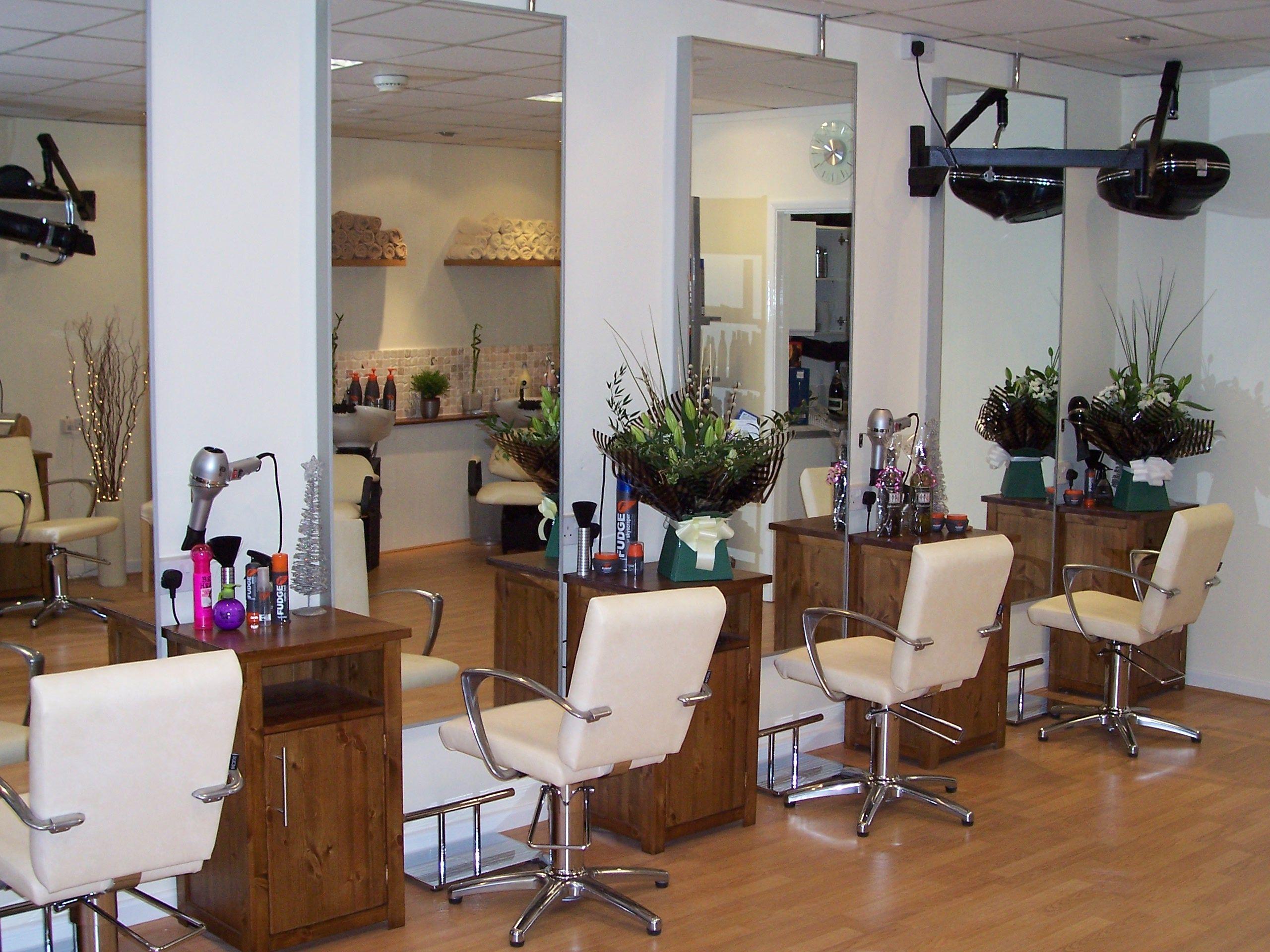 small salon design unique hair