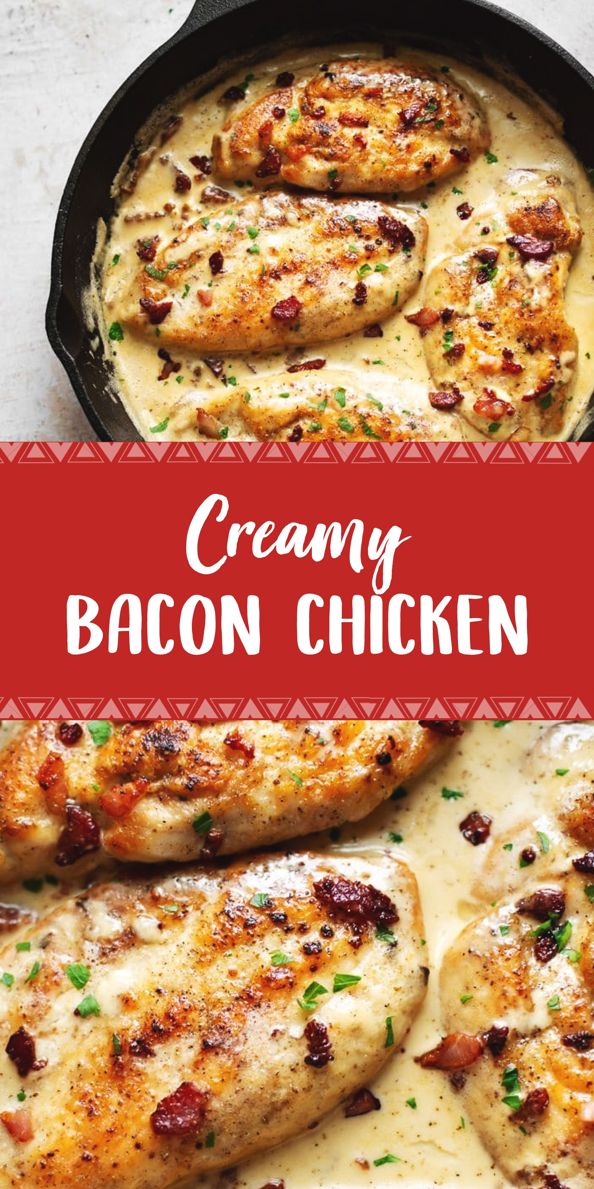 Creamy Bacon Chicken Chicken Bacon Recipes Chicken Bacon Chicken Recipes