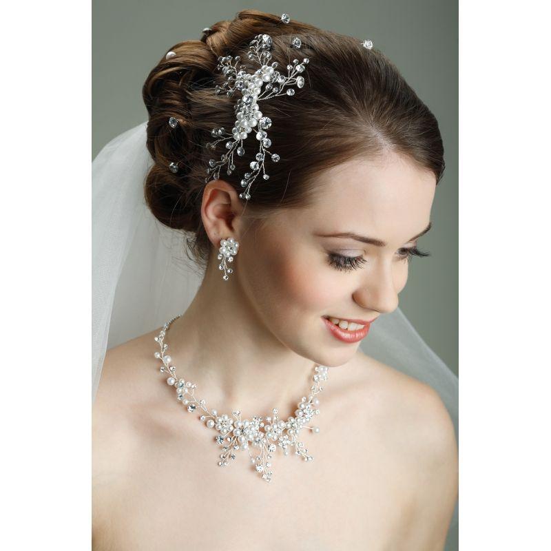 Braut haarschmuck mit perlen  Haarschmuck hochzeit | haarschmuck | Pinterest | Haarschmuck ...