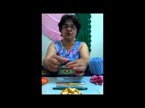 ARTES & AGULHAS - 01 VIDEO aula básica de crochê