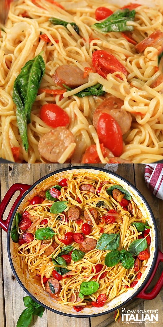 Photo of One Pot Cheesy Pasta and Sausage