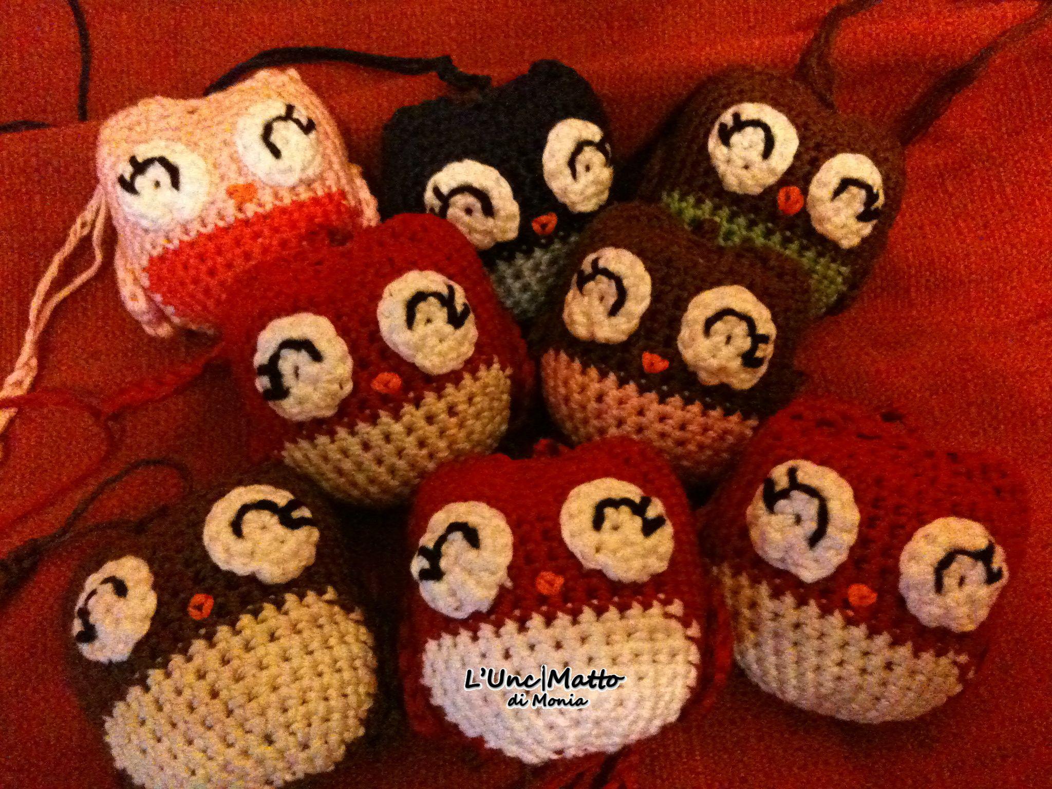 Cute Little Amigurumi Owl : Lucky charm owls owl decoration cute little amigurumi