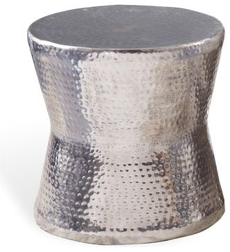 Surabaya Round Side End Table - contemporary - side tables and accent tables - Kathy Kuo Home