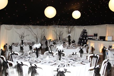 Themed Parties Decadent Black And White Birthday Ball White