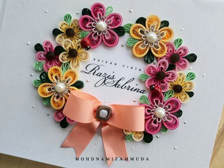 Paper Quilling Book Cover : Love the color combination book cover quilling