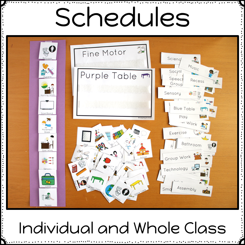 Special Education Best Practices And >> Autism Visual Supports Bundle Developmental Autism Classroom