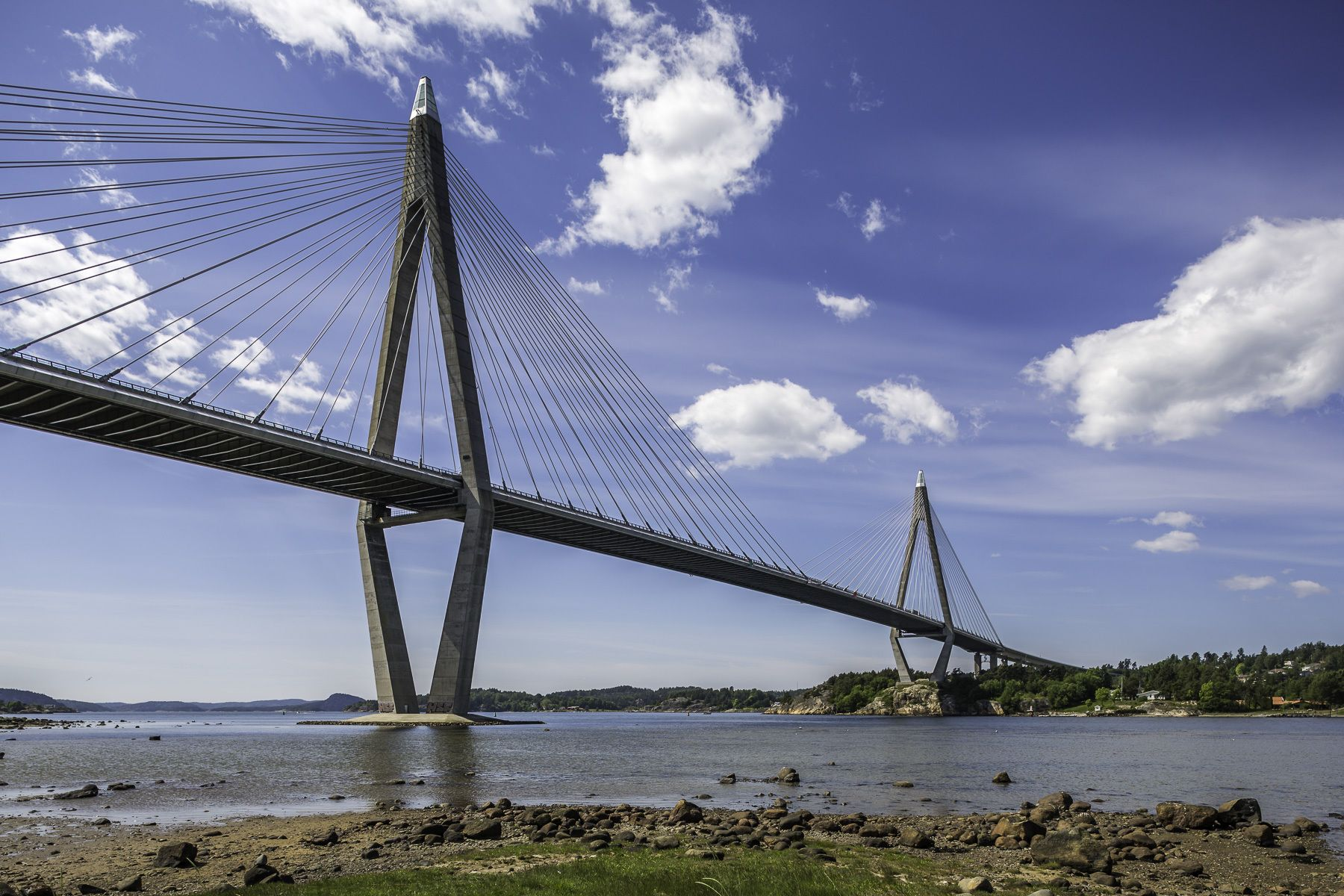 Uddevallabron – Uddevalla Bridge http://mabrycampbell.com #image #photo #Sweden #bridge #Uddevalla #bridge #archipelago #water