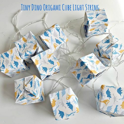 Photo of Fold Your Own Origami Lights Kit – Tiny Dinosaurs Design