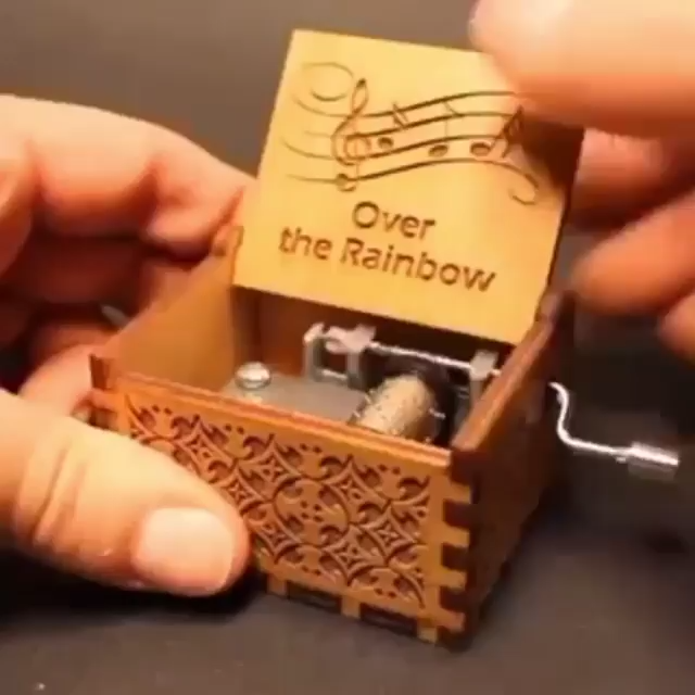 Over The Rainbow Carved Music Box in 2020 Music box, New