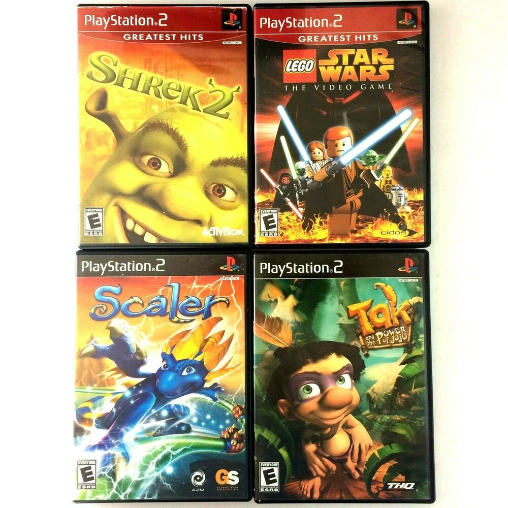 Ps2 4 Kids Video Game Lot Bundle Lego Star Wars Shrek 2 Scaler Tak Lego Zvezdnye Vojny