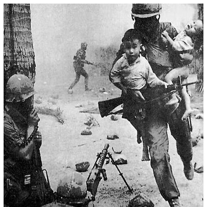 The difference between Terrorists and Soldiers...we tend to identify the helpless and defenseless as we would our own. For that moment, any child, woman or even a wounded but defenseless enemy becomes your responsibility. No one tells you this...it just happens.