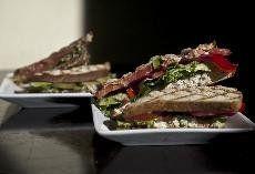 "Strong Hearts Cafe vegan ""chicken"" salad sandwich"