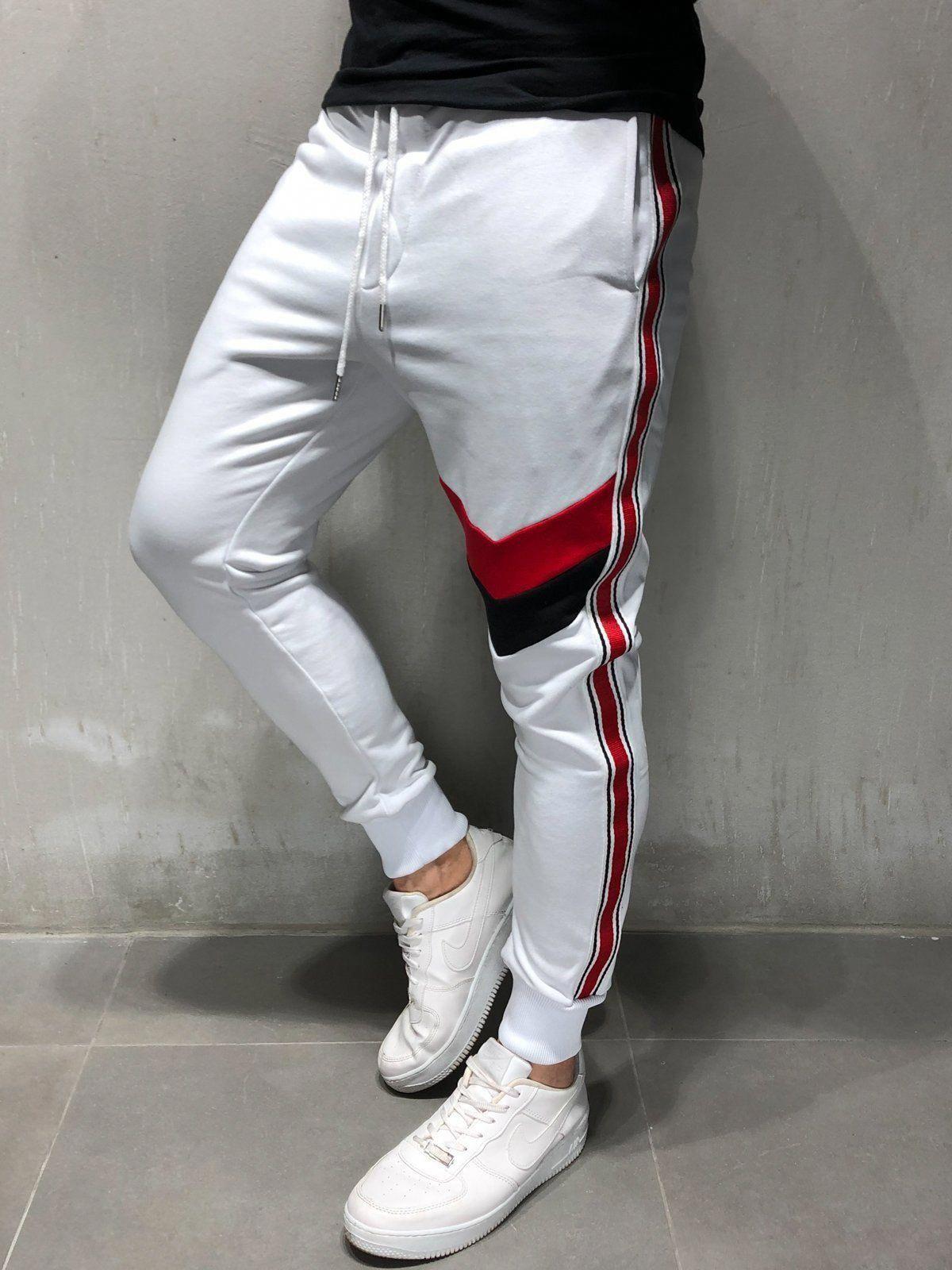 Striped Sweatpants Plain Design in 2019   Sweatpants, Mens