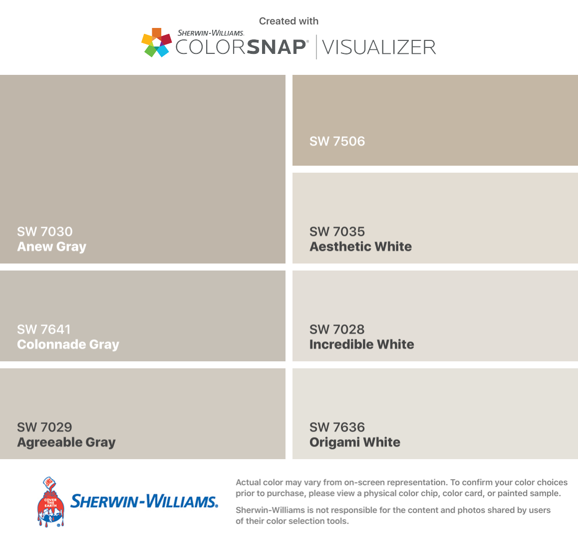 I Found These Colors With Colorsnap Visualizer For Iphone By Sherwin Williams Anew Gray Sw 703 Matching Paint Colors Paint Colors For Home Grey Paint Colors