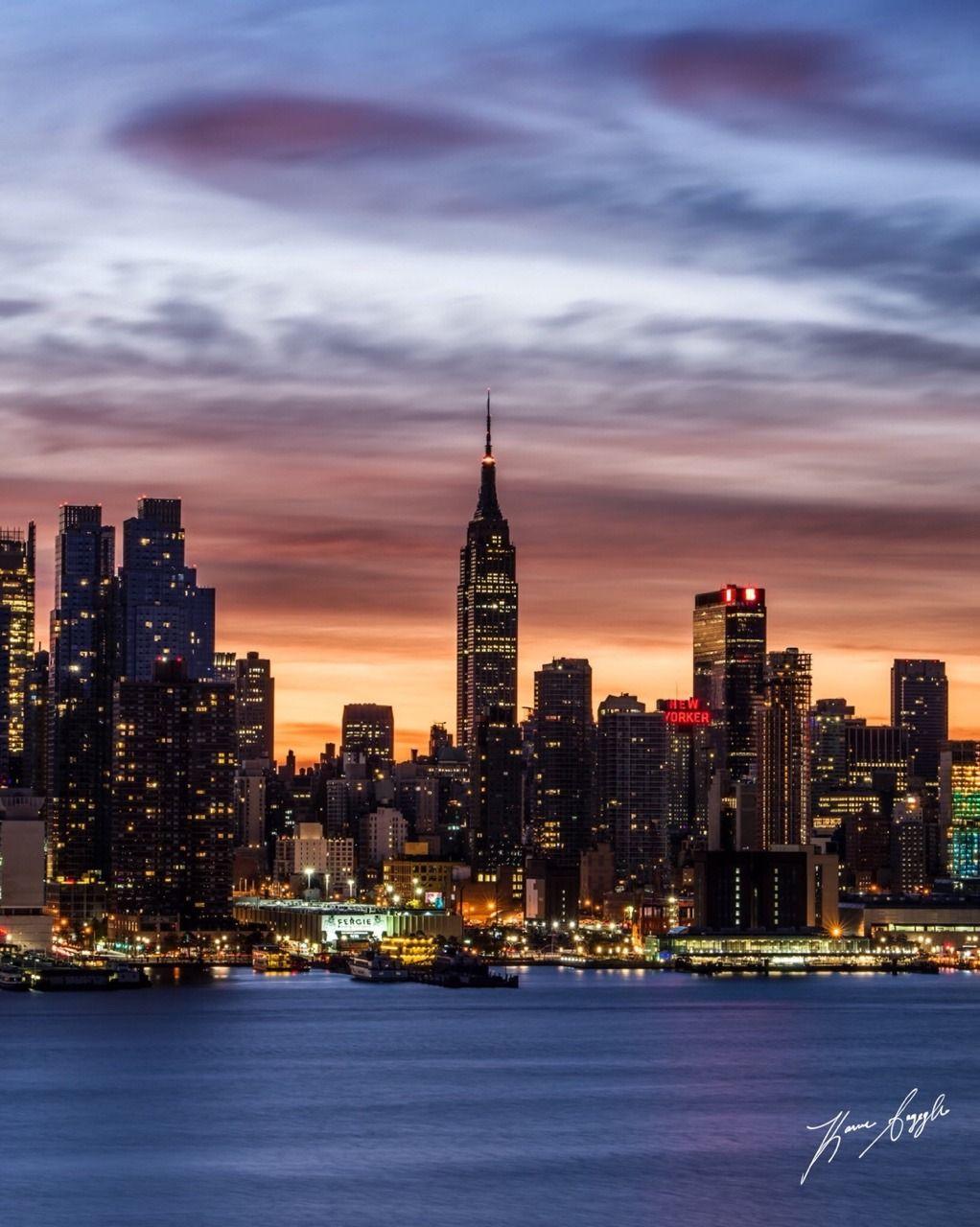 Sunrise Delight Over The Empire State Building By Ksayeghphoto Empire State Building New York Wallpaper Empire State