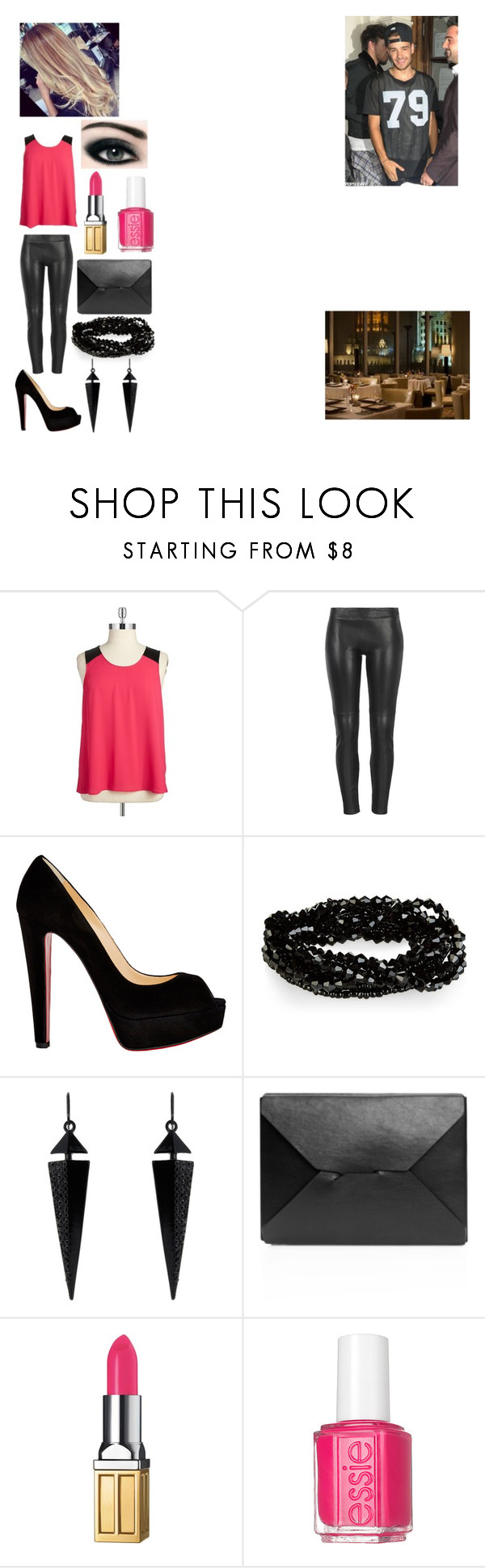 """""""Untitled #49"""" by satelligray ❤ liked on Polyvore featuring BB Dakota, MuuBaa, Christian Louboutin, Carriere, Oasis, J.W. Anderson, Payne, Elizabeth Arden, Essie and plus size clothing"""