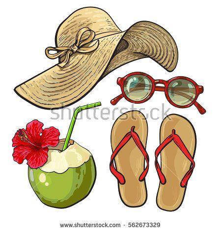 16++ Flip flops and sunglasses clipart ideas